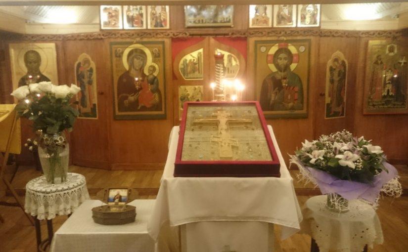 Поклонение частице Животворящего Креста Господня и частице мощей святого праведного воина Феодора Ушакова